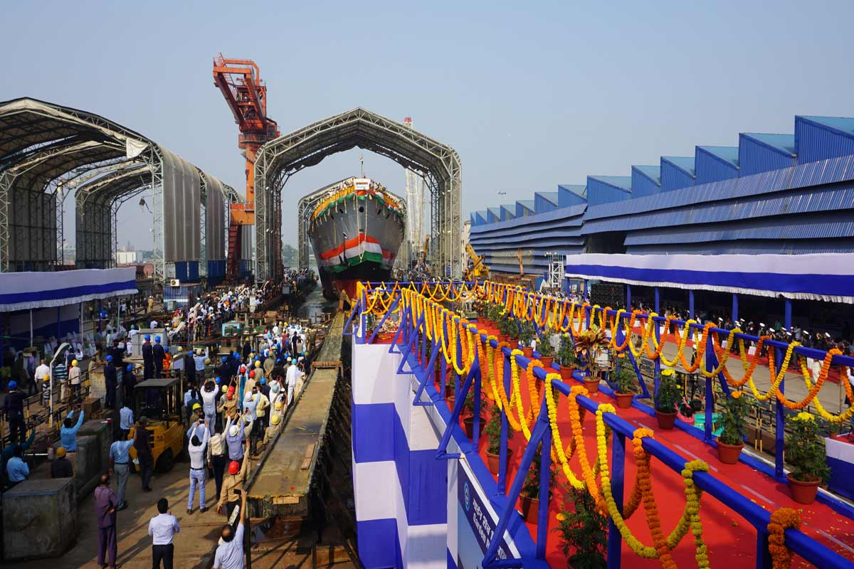GRSE does it again! Launches indigenous stealth frigate ahead of schedule under Project 17A