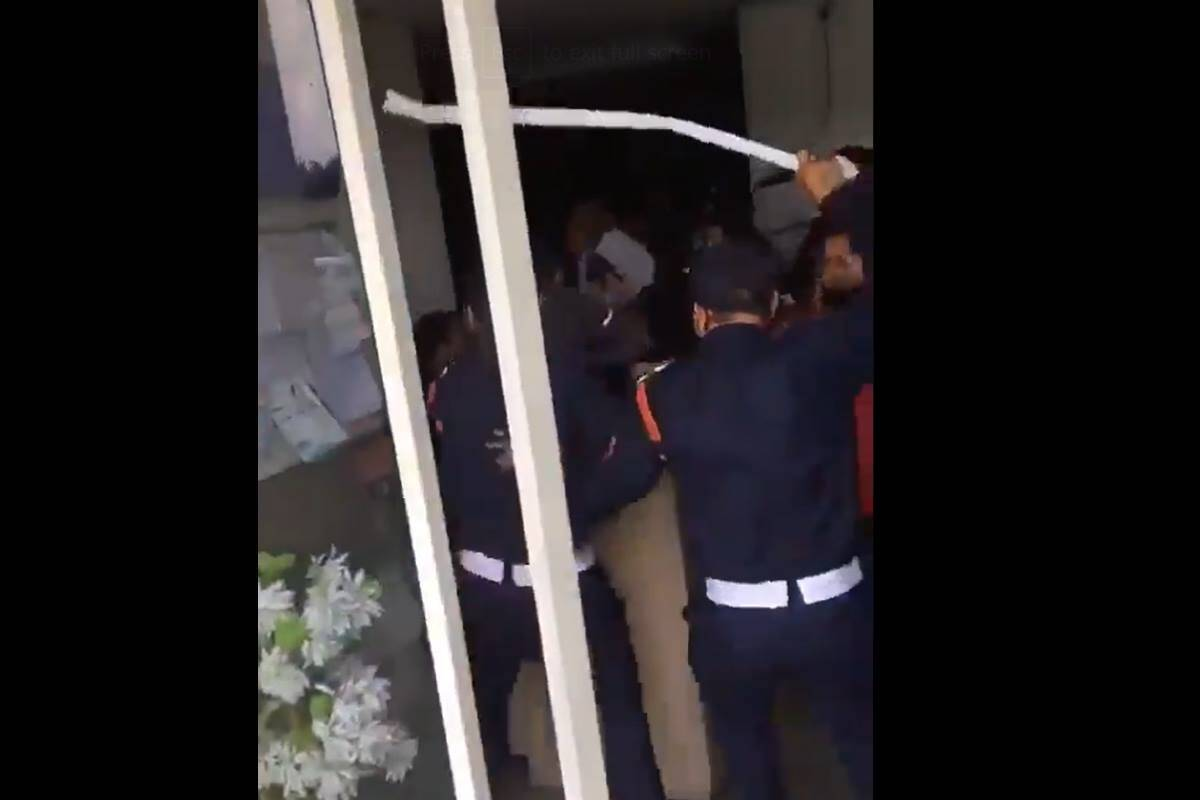 On camera, security guards at Noida high-rise rough up residents with sticks; FIR lodged